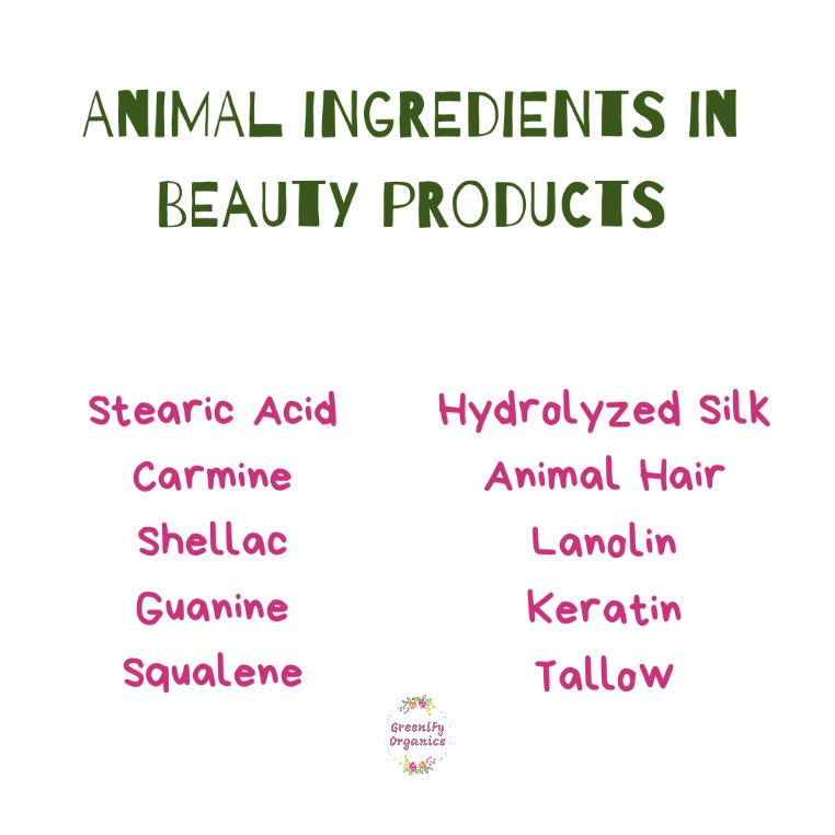 Animal ingredients in beauty products