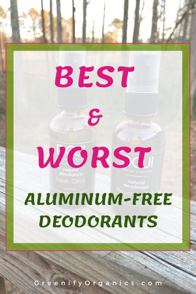 freedom deodorant, doji natural deodorant, schmidt's deodorant, each and every deodorant, best and worst aluminum-free deodorants, why is aluminum in deodorant bad, aluminum in deodorant Alzheimer's, natural deodorant, secret aluminum free deodorant, dove aluminum free deodorant, arm and hammer aluminum free deodorant
