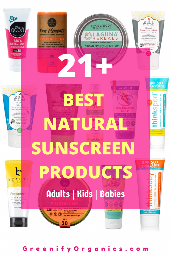 best natural sunscreen products